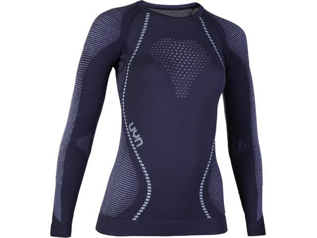 UYN Ambityon UW LS Shirt Women deep blue/white/light blue